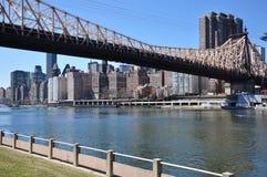 Nuevo puente de Jork Queensboro fotografía de archivo
