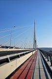 Nuevo puente de la carretera en Belgrado, Serbia fotografía de archivo