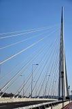 Nuevo puente de la carretera en Belgrado, Serbia fotos de archivo libres de regalías