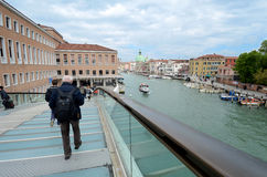 Nuevo puente de la constitución de Venecia Fotografía de archivo