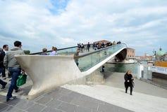 Nuevo puente de la constitución de Venecia Foto de archivo libre de regalías