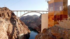 Nuevo puente de la Presa Hoover en Arizona - puente del monumento de Mike Oâ €™Callaghan-Pat Tillman metrajes