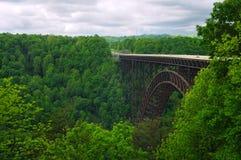 Nuevo puente del río Fotos de archivo libres de regalías