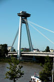 Nuevo puente en Bratislava (Eslovaquia) Imagen de archivo libre de regalías
