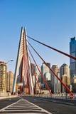 Nuevo puente en la ciudad de Chongqing fotos de archivo
