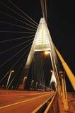 Nuevo puente en la noche Fotografía de archivo