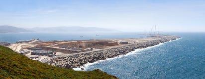 Nuevo puerto bajo construcción Imagenes de archivo