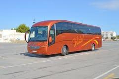 Nuevo servicio de autobuses foto de archivo