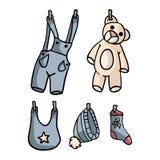 Nuevo sistema adorable de la colección del ejemplo del bebé libre illustration