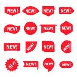 Nuevo sistema de la etiqueta engomada libre illustration