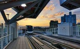 Nuevo sistema ferroviario ligero en Taiwán Fotos de archivo