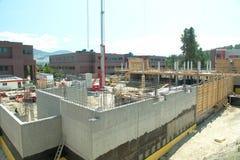 Nuevo sitio de la construcción de edificios Fotografía de archivo libre de regalías