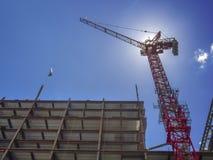 Nuevo sitio de la construcción de edificios Foto de archivo