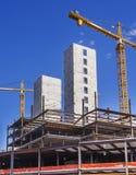 Nuevo sitio de la construcción de edificios Imágenes de archivo libres de regalías