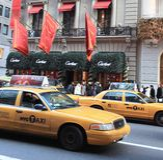 Nuevo taxi en New York City Foto de archivo