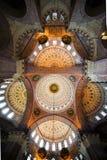Nuevo techo del interior de la mezquita Imagenes de archivo