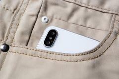 Nuevo teléfono elegante de Iphone X Apple más nuevo Iphone 10 Foto de archivo libre de regalías