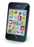 Nuevo teléfono móvil elegante stock de ilustración