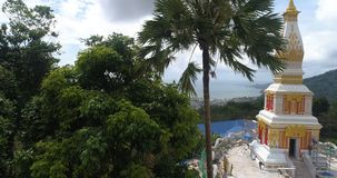 Nuevo templo construido en Phuket metrajes