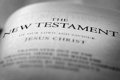 Nuevo testamento Christian Gospel de la biblia imagen de archivo