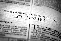 Nuevo testamento Christian Gospel de la biblia de St John Saint foto de archivo libre de regalías