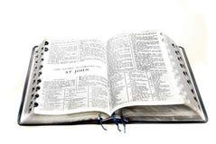 Nuevo testamento San Juan de la biblia Foto de archivo