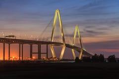 Nuevo tonelero River Bridge, Charleston, Carolina del Sur Imagen de archivo libre de regalías