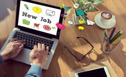 Nuevo trabajo y Job Search Concept en línea Imagen de archivo libre de regalías