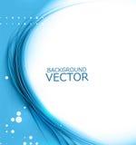 Nuevo vector brillante azul de la composición de la onda imagen de archivo libre de regalías