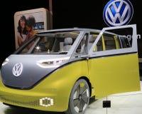Nuevo vehículo 2018 de Volkswagen en la exhibición en el salón del automóvil internacional norteamericano Imagenes de archivo