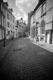 Nuevo y viejo, un contraste de la arquitectura oportuna foto de archivo libre de regalías