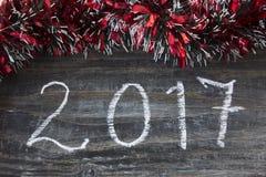 Nuevo Year& x27; tarjeta de felicitación de s 2017 Foto de archivo