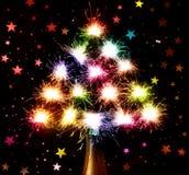 Nuevo Year& x27; fuegos artificiales de s de la botella Imagen de archivo