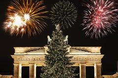 Nuevo Year& x27; s Eve en Berlín Fotos de archivo