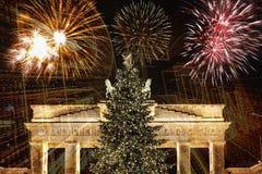 Nuevo Year& x27; s Eve en Berlín Foto de archivo libre de regalías