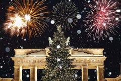 Nuevo Year& x27; s Eve en Berlín Imágenes de archivo libres de regalías