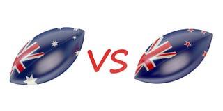 Nuevo Zeland contra el mundial final 2015 del rugbi de Australia ilustración del vector
