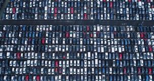 Nuevos aparcamiento y camión Imagen de archivo libre de regalías