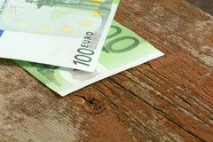 Nuevos billetes de banco euro Fotografía de archivo libre de regalías