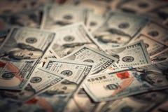 Nuevos 100 billetes de dólar Imágenes de archivo libres de regalías