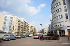 Nuevos bloques de apartamentos Fotos de archivo libres de regalías