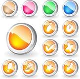 Nuevos botones Fotos de archivo libres de regalías