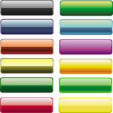 Nuevos botones pulidos Imagen de archivo libre de regalías