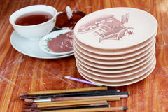 Nuevos cerámica y esmaltes Foto de archivo