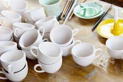 Nuevos cerámica y esmaltes Fotografía de archivo libre de regalías
