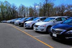 Nuevos coches Foto de archivo