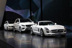 Nuevos coches del Benz de Mercedes Imagenes de archivo