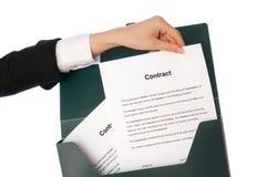 Nuevos contratos Fotos de archivo libres de regalías