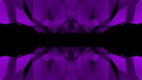Nuevos dinámicos hermosos retros únicos de la cueva del vuelo del lazo del fondo inconsútil púrpura poligonal bajo abstracto de l libre illustration
