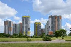 Nuevos distritos residenciales imagen de archivo libre de regalías